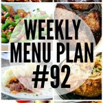 WEEKLY MEAL PLAN (WEEK 92)
