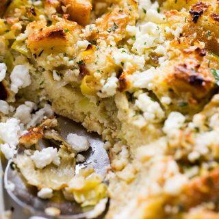 Artichokes and Feta Cheese Strata