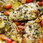 Creamy Pesto Chicken - Create a restaurant-style meal at home with this flavor-packed,creamless Creamy Pesto Chicken dinner that comes together in just 30 minutes!