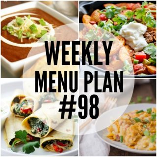 WEEKLY MENU PLAN (#98)