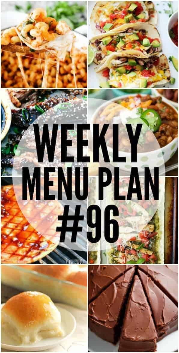 Collage of recipes from Week 96 Meal Plan