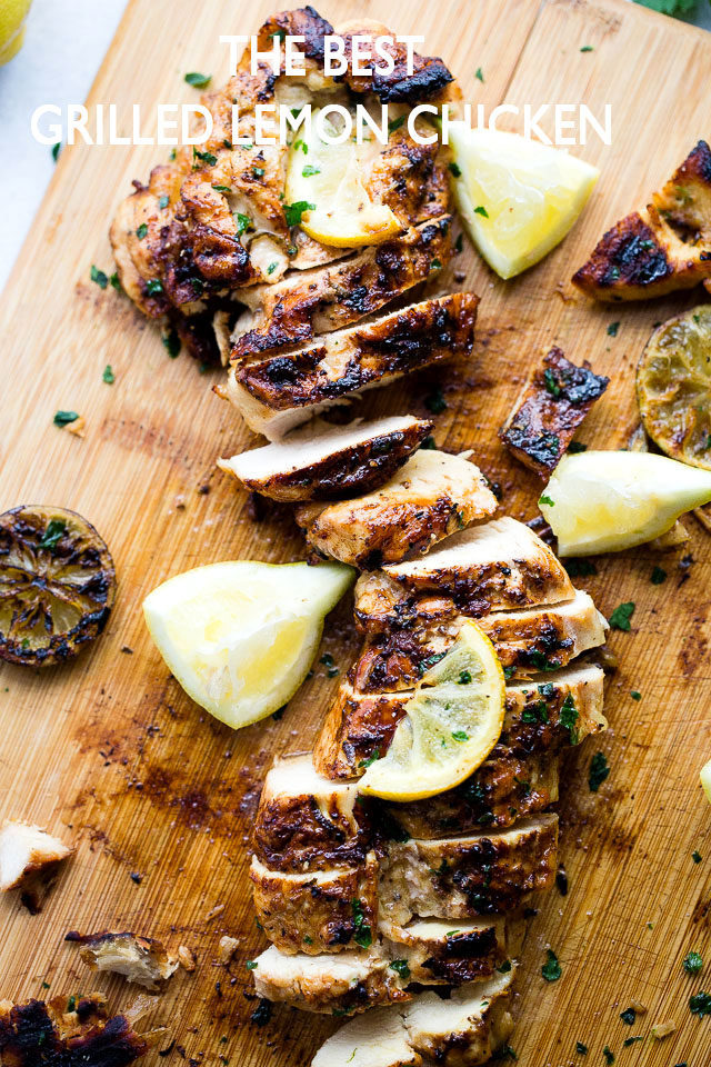 Sliced grilled chicken breast.