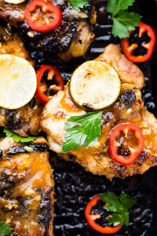 Lemongrass Grilled Chicken - Spicy and SO delicious lemongrass-marinated chicken grilled to a juicy and tender perfection!
