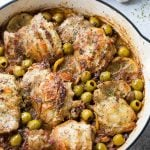 Saucy Skillet Chicken Recipe with Lemons & Olives