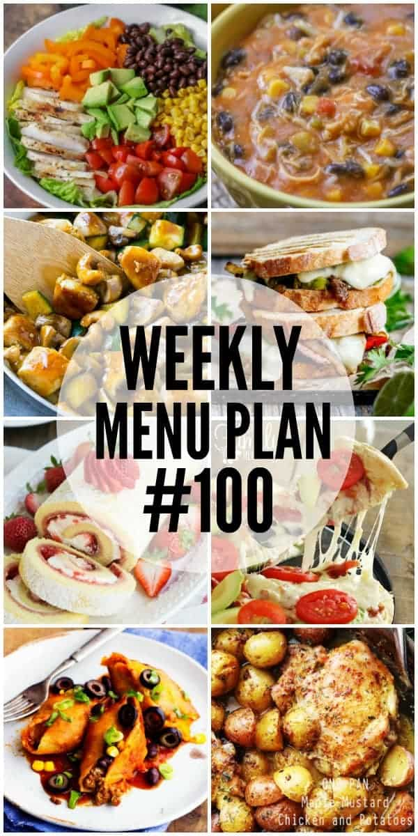 Title Image for Week 100 Meal Plan recipes