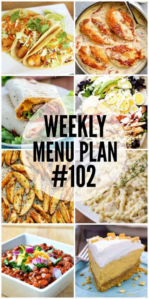 Title Image for Week 102 Meal Plan recipes