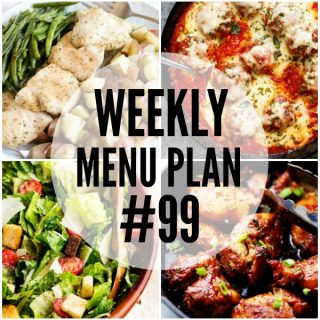 WEEKLY MENU PLAN (#99)