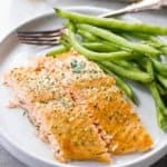 Maple Mustard Salmon in Foil | Easy Baked Salmon Recipes