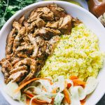 Pulled Tandoori Chicken Rice Bowls Recipe
