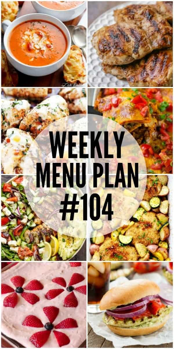 Title Image for Week 104 Meal Plan recipes