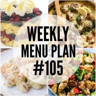 WEEKLY MENU PLAN (#105)
