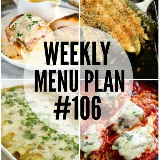 WEEKLY MENU PLAN (#106)