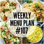 WEEKLY MENU PLAN (#107)