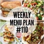 WEEKLY MENU PLAN (#110)