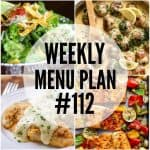 WEEKLY MENU PLAN (#112)