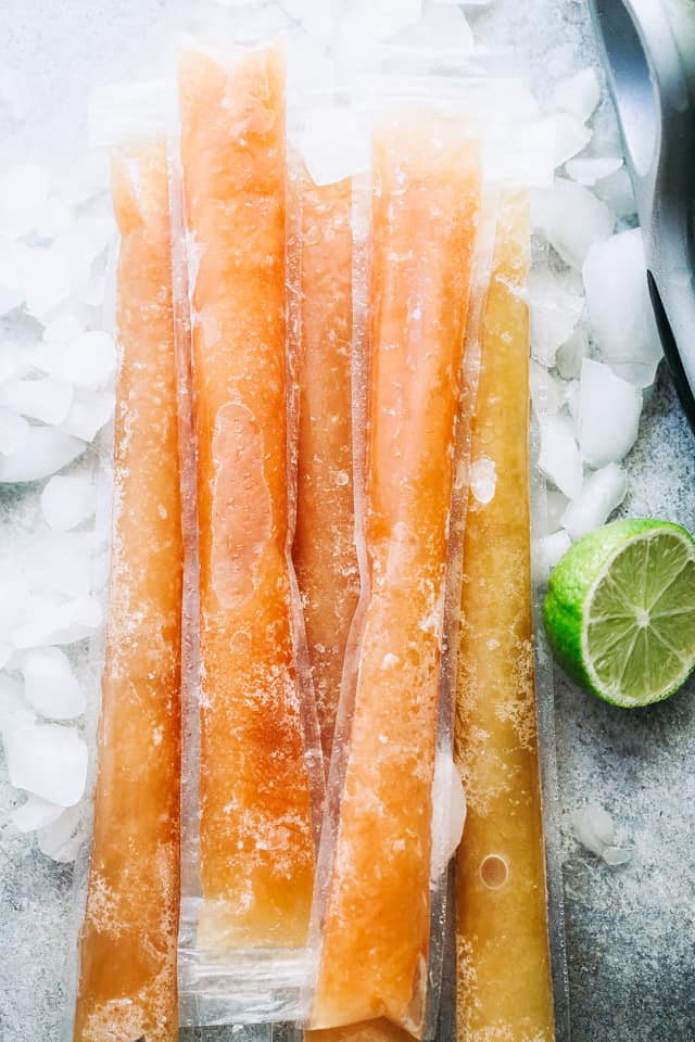 Bahama Mama Ice Pops - Refreshing, boozy treats made with pineapple juice, orange juice, and rum!