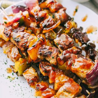 Barbecue Pineapple and Pork Skewers + a GIVEAWAY!