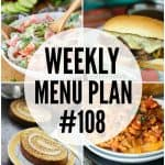 WEEKLY MENU PLAN (#108)
