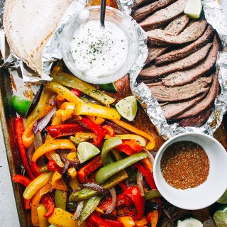 Sheet Pan Steak Fajitas Recipe