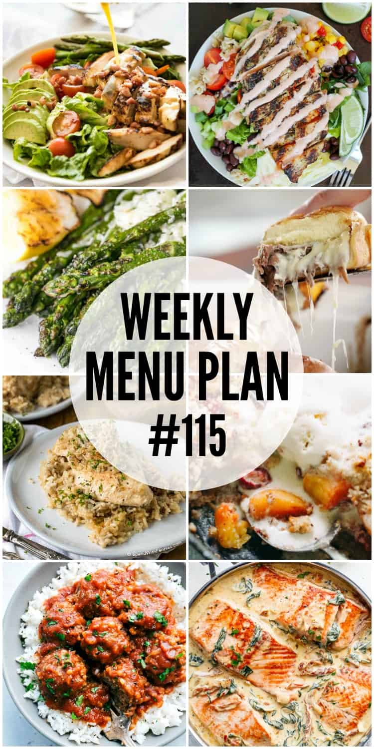 WEEKLY MENU PLAN (#115) - Seven talented bloggers bringing you a full week of recipes including dinner, sides dishes, and desserts!