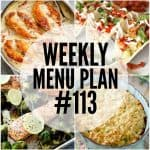 WEEKLY MENU PLAN (#113)