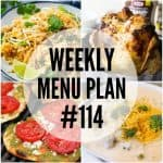 WEEKLY MENU PLAN (#114)
