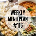 WEEKLY MENU PLAN (#116)