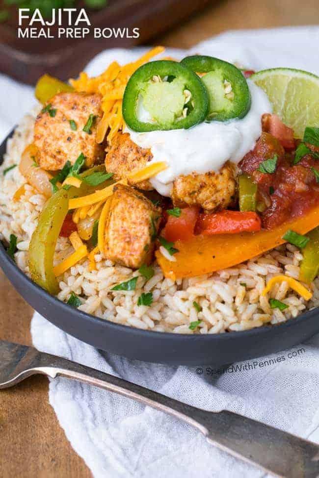 Fajita-Meal-Prep-Bowls
