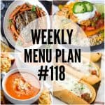 WEEKLY MENU PLAN (#118)