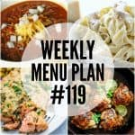 WEEKLY MENU PLAN (#119)