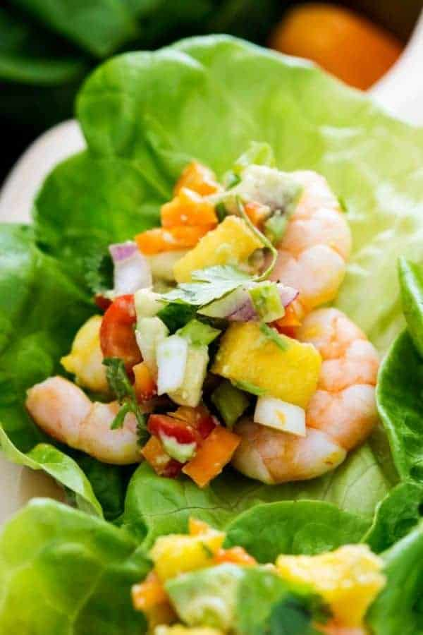 MANGO SHRIMP WRAPS