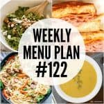 WEEKLY MENU PLAN (#122)