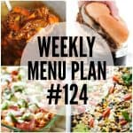 WEEKLY MENU PLAN (#124)