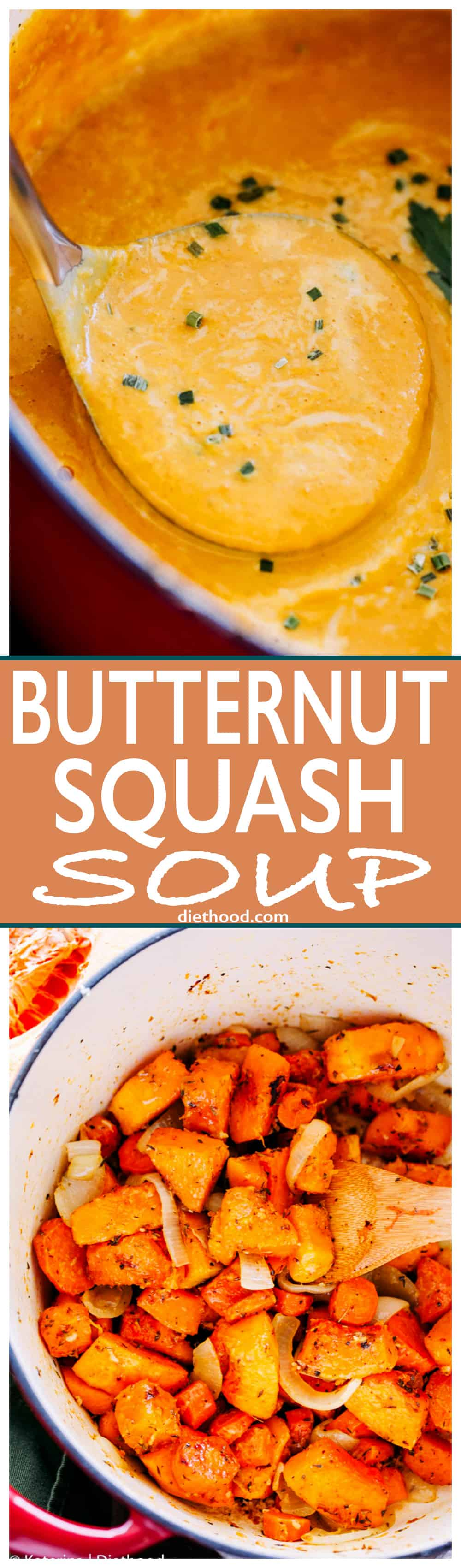 Butternut Squash Soup - Simple, the BEST EVER #butternut_squash soup! You're just a few ingredients away from this incredibly delicious, comforting, and #healthy #soup.
