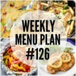 WEEKLY MENU PLAN (#126)