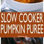 Slow Cooker Pumpkin Puree - Super easy way to prepare homemade and delicious pumpkin puree, and it's so so so much better than store-bought!