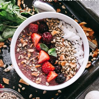 Rainbow Protein Smoothie Bowl - Prepared with a rainbow of colors and an amazing mix of flavors, this protein smoothie bowl is an easy, convenient, and delicious way to get protein and natural energy support to fuel your day.