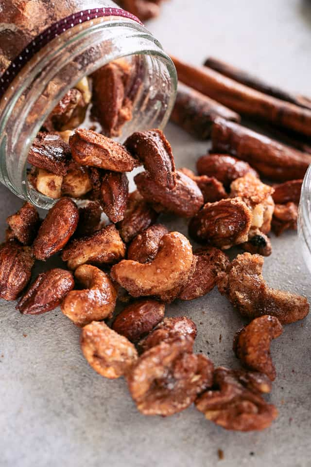 Vanilla Spiced Nuts Recipe - Sweet, crunchy and absolutely irresistible nuts coated with a perfect blend of spice and vanilla.