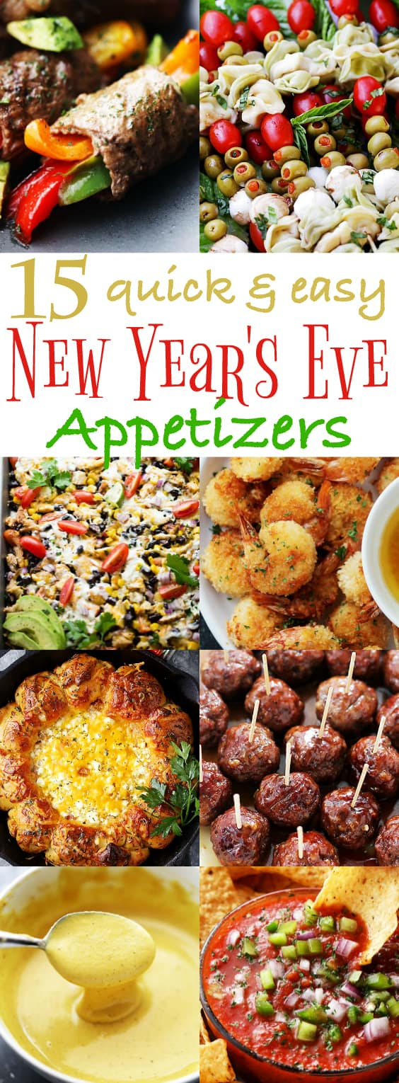 15 Quick and Easy New Year's Eve Appetizers - Ring in the New Year with some of our best party-worthy quick and easy appetizers! #newyearseve #appetizers #partyfood