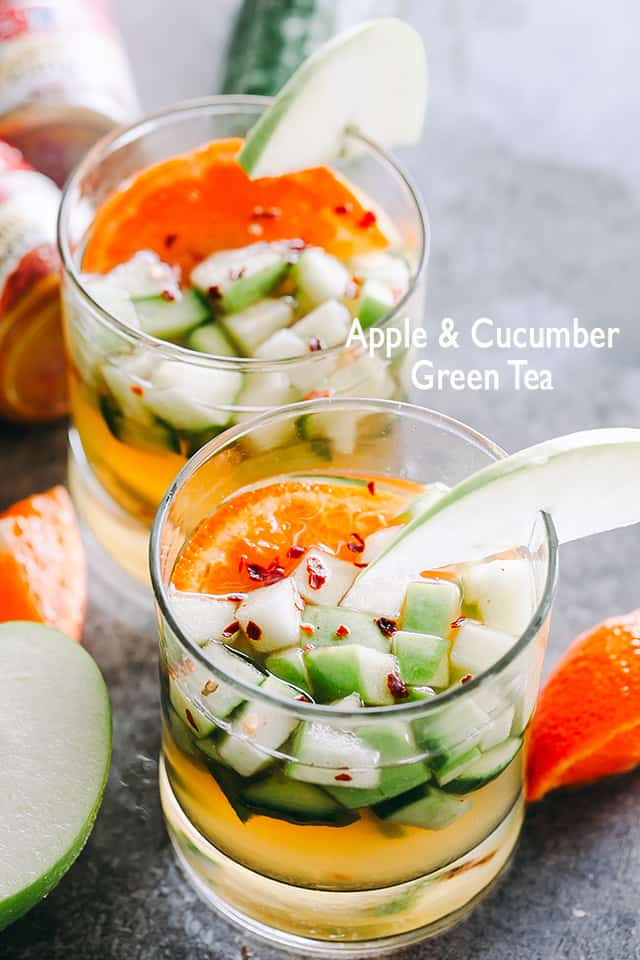 Apple Cucumber Green Tea in glasses