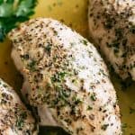 Easy Baked Chicken Breast Recipe - Tender and juicy, perfectly baked chicken breasts! The one and ONLY method and recipe you will need for baked chicken.
