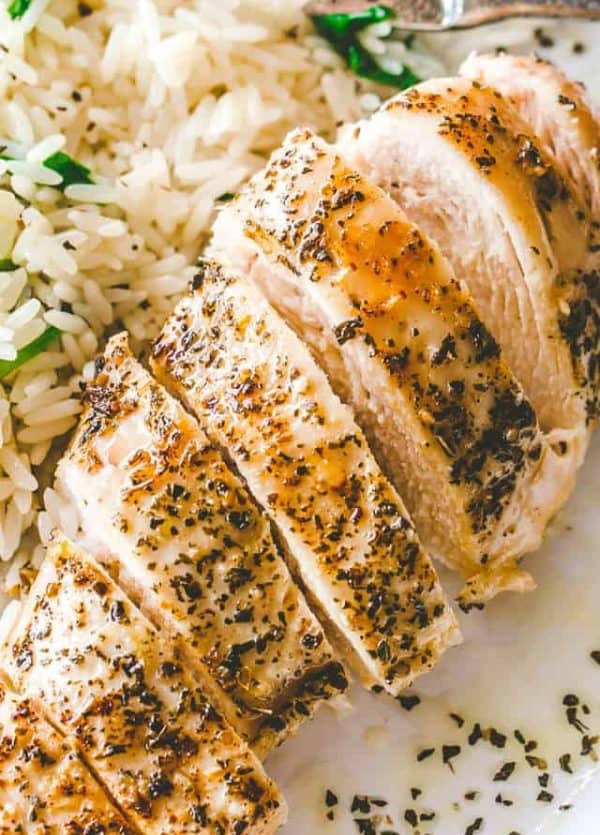 Easy Baked Chicken Breasts Recipe - Tender and juicy, perfectly baked chicken breasts! The one and ONLY method and recipe you will need for baked chicken.