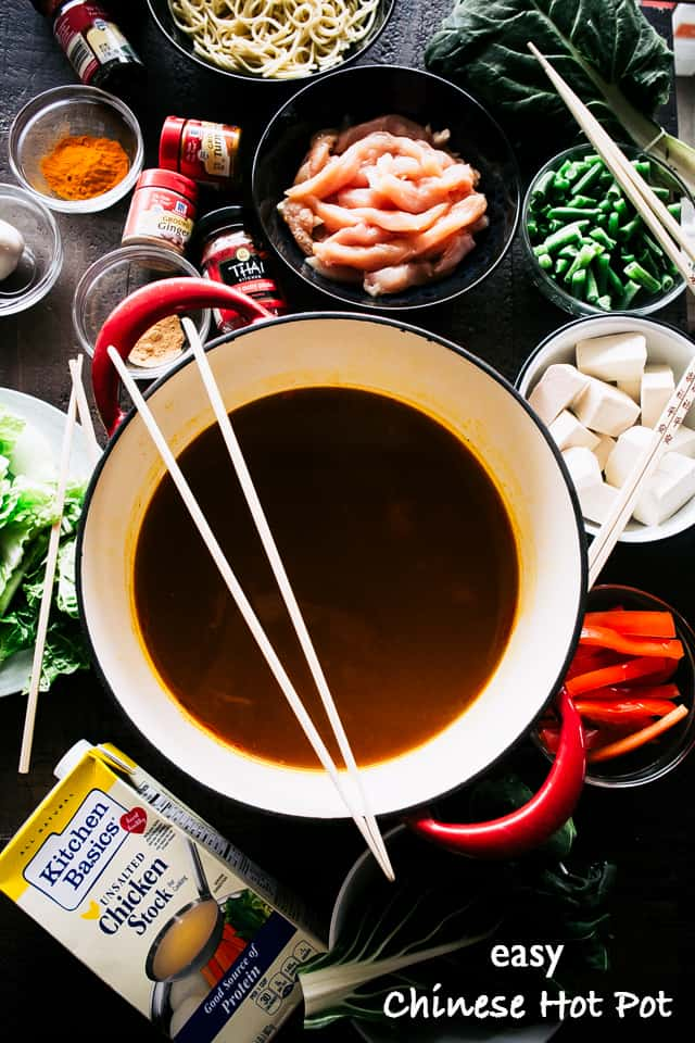 Easy chinese hot pot recipe diethood easy chinese hot pot recipe a simple take on the traditional chinese hot pot prepared forumfinder Image collections