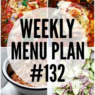 WEEKLY MENU PLAN (#132)