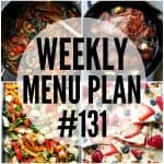 WEEKLY MENU PLAN (#131)