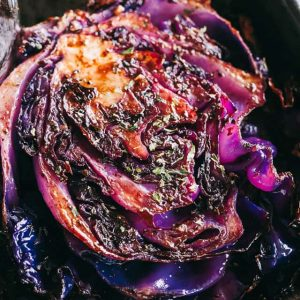 Balsamic Roasted Cabbage Steaks Recipe - Roasted, crispy, and incredibly flavorful cabbage steaks brushed with a sweet and savorybalsamicand garlic glaze.