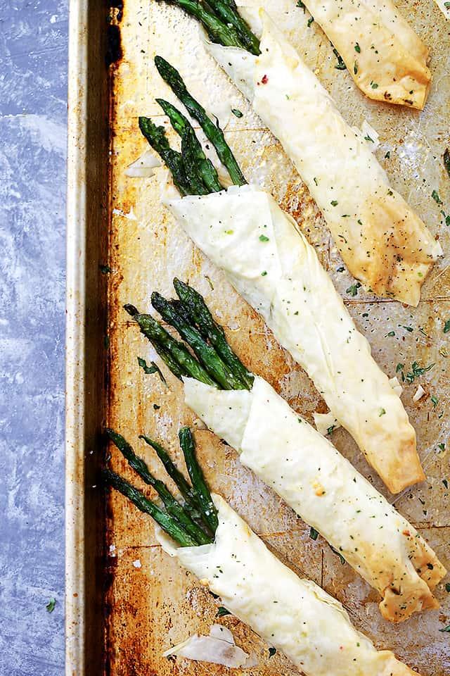 asparagus, phyllo bundles, asparagus bundles, honey mustard sauce, Easter appetizer