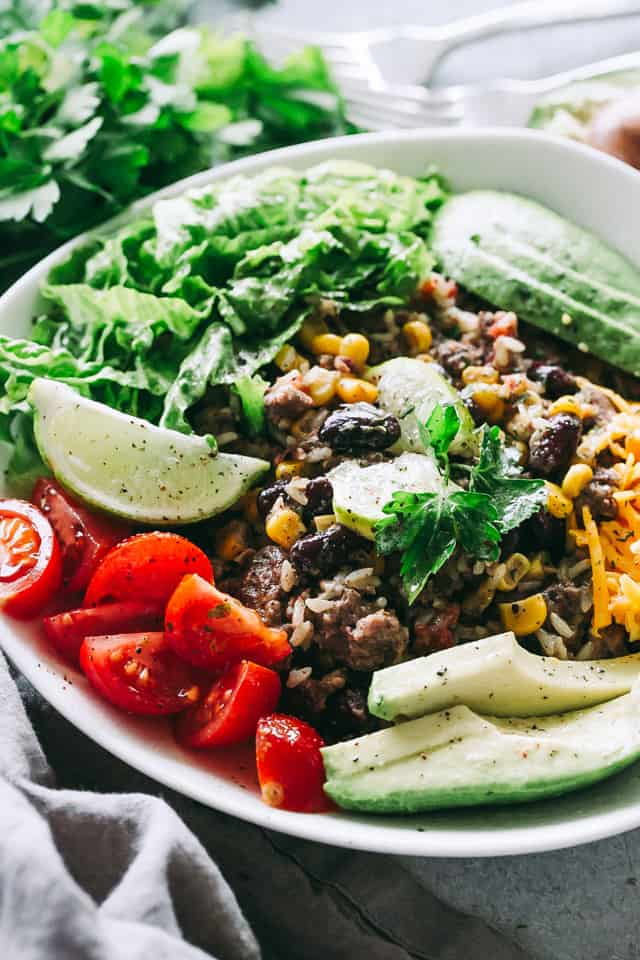 instant pot burrito bowls, ground turkey, burritos