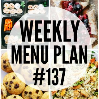WEEKLY MENU PLAN (#137) - A delicious collection of dinner, side dish and dessert recipes to help you plan your weekly menu and make life easier for you!