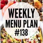 weekly menu plan, meal plan, recipes